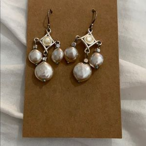 Shiny pearly earrings